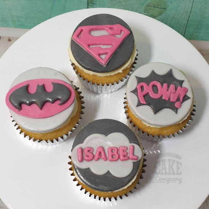 supergirl superhero theme cupcakes - tamworth