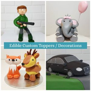 edible custom toppers and decorations made to order - quality cake company tamworth