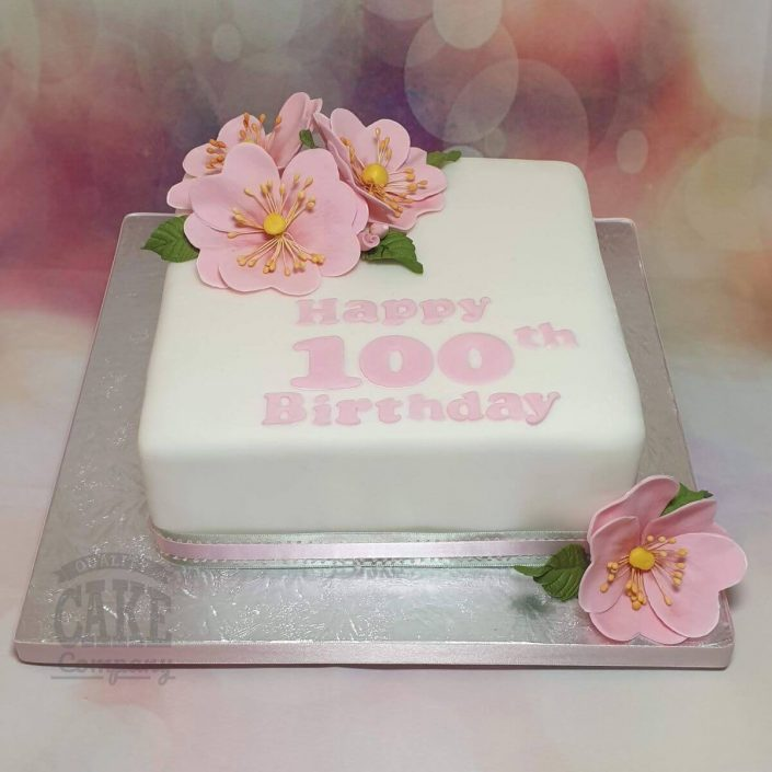 100th birthday wild rose birthday cake - tamworth