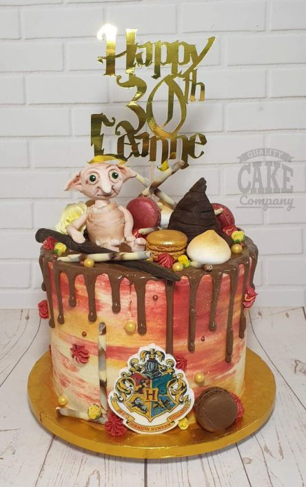 harry potter drip birthday cake with personalised topper -tamworth