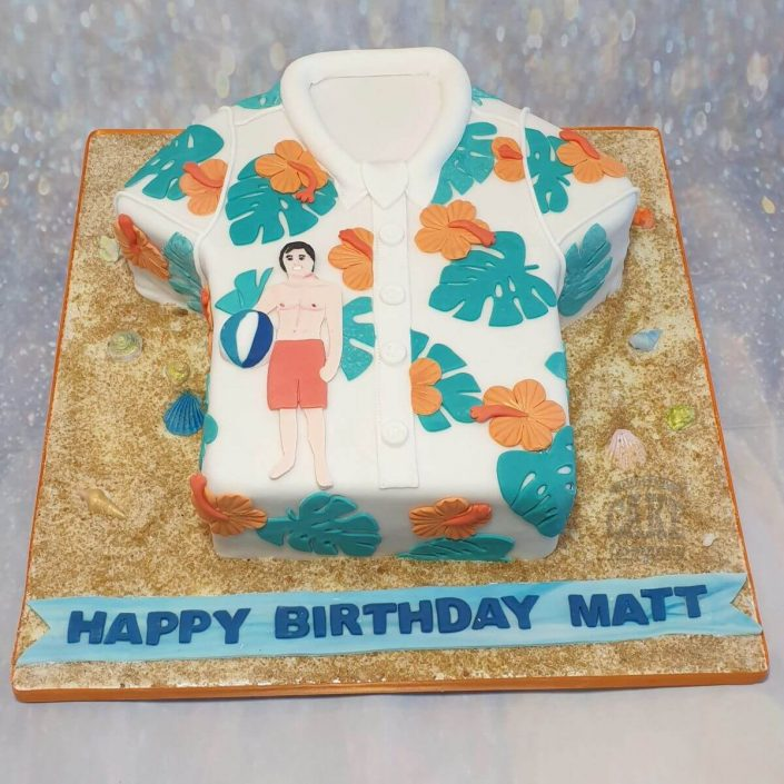 Hawaiian shirt birthday cake - tamworth
