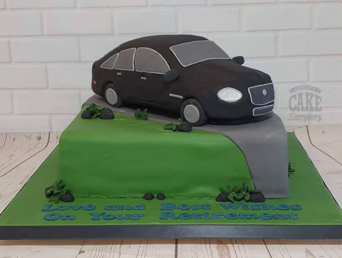Jaguar car model for retirement cake - tamworth