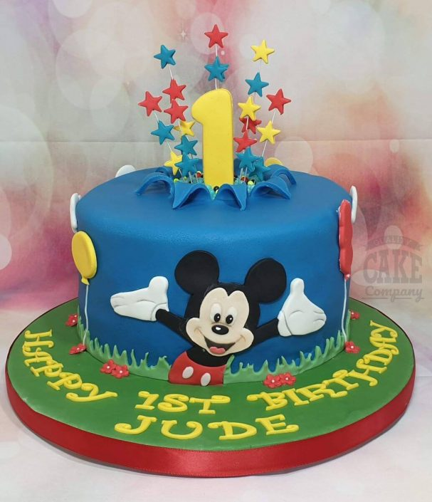 mickey mouse theme 1st birthday cake - tamworth