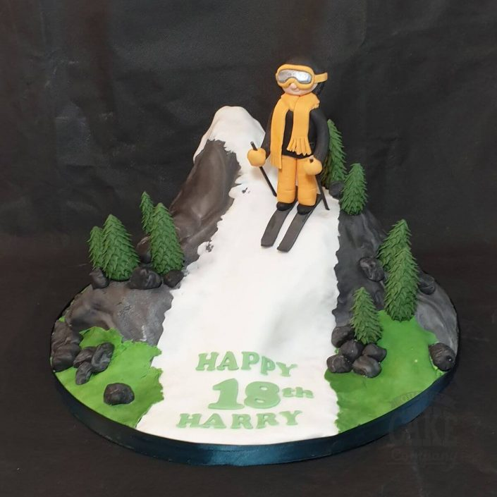 mountain skiier birthday cake - tamworth