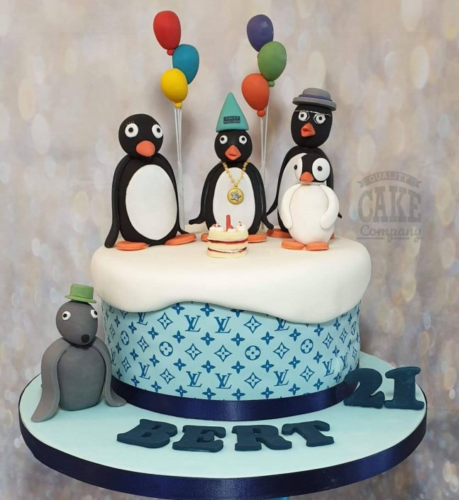 pingu teenage birthday party cake - tamworth