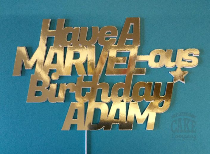 Marvel theme custom personalised cake topper - tamworth