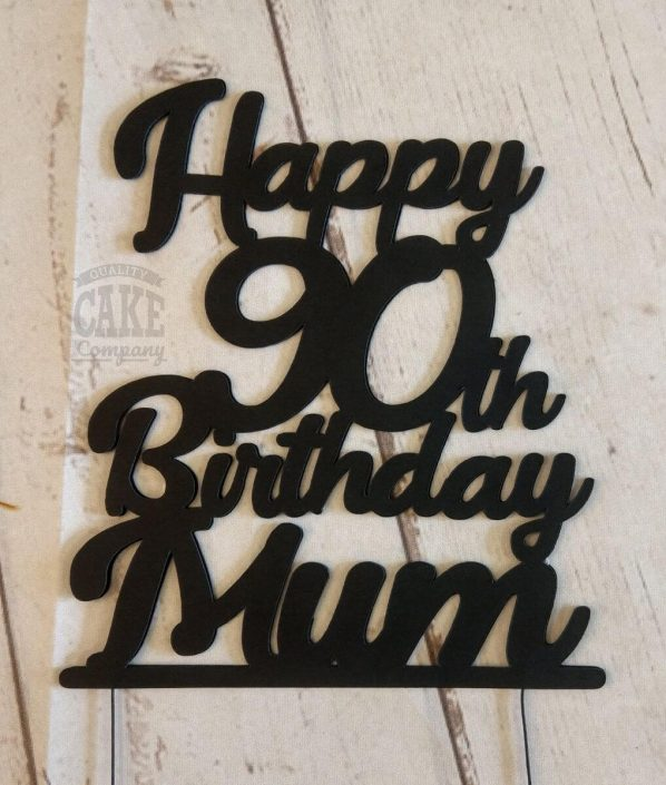 90th birthday personalised cake topper - tamworth