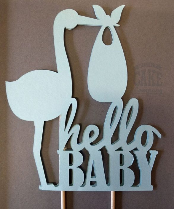 hello baby - new baby cake topper decoration - tamworth