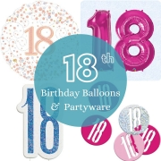 18th birthday balloon and partyware - Tamworth