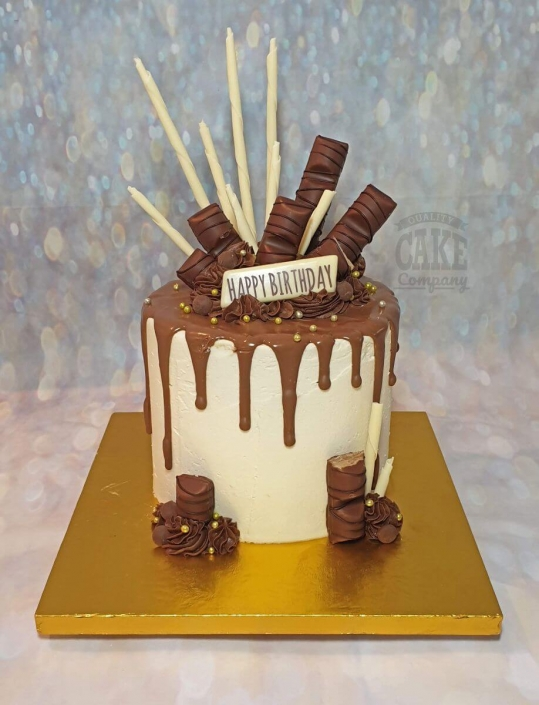 Kinder bueno chocolate drip cake - Tamworth