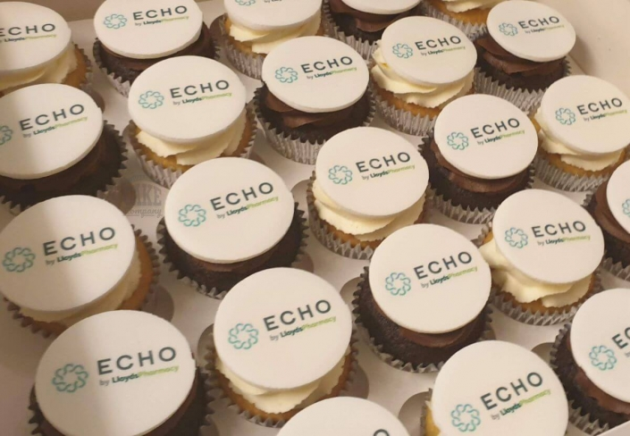 Corporate logo cupcakes - Tamworth