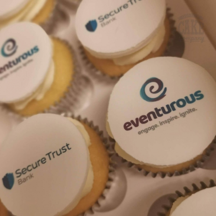 Corporate printed logo cupcakes - Tamworth