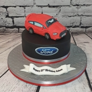 Ford Fiesta model made from cake - Tamworth