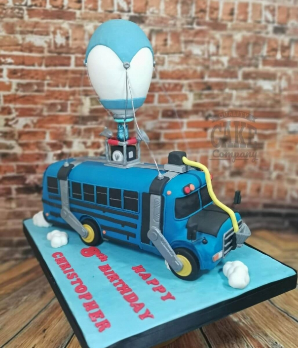 Fortnite Battlebus novelty cake