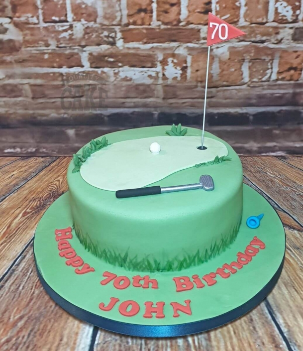Simple golf theme cake - Tamworth