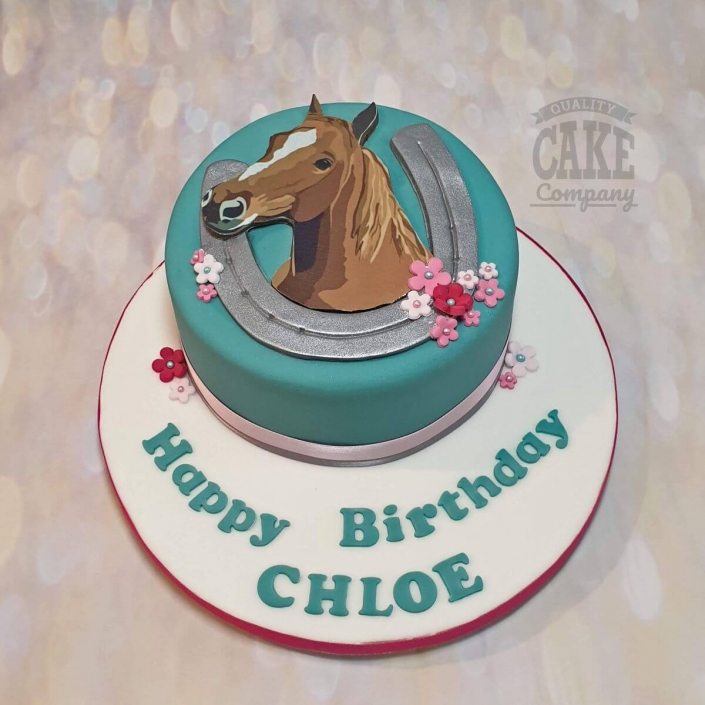 2D horse theme birthday cake - Tamworth
