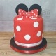 Tall minnie mouse inspired cake