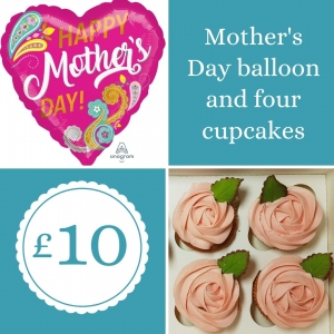 Mother's Day cupcake and balloon offer - tamworth
