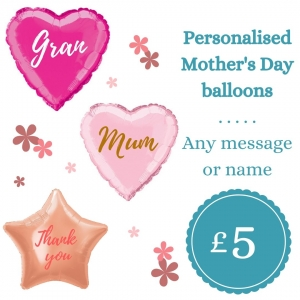 Mother's day personalised balloon offer Tamworth