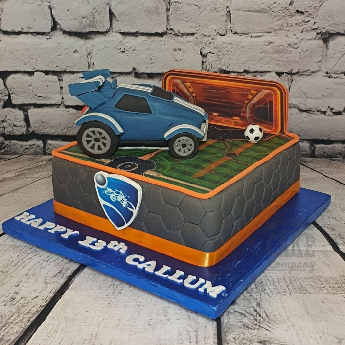 Rocket League theme birthday cake - Tamworth