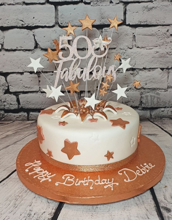 personalised cake topper rose gold