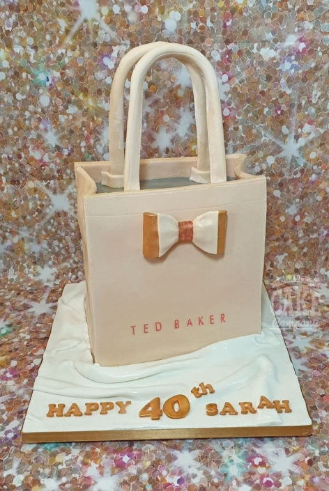 Rose gold Ted Baker handbag birthday cake - Tamworth