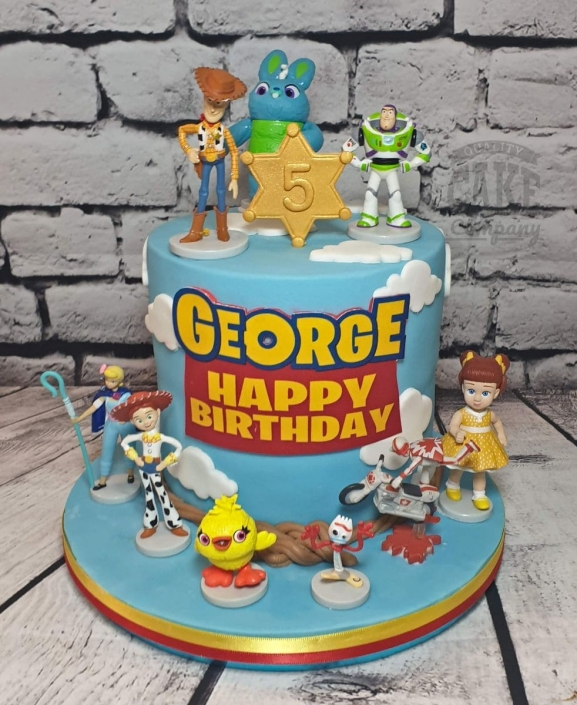 Toy Story 4 character theme birthday cake - Tamworth