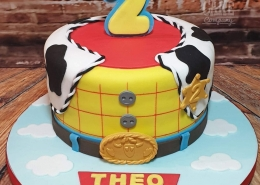 Toy story woody's shirt theme children's birthday cake - Tamworth
