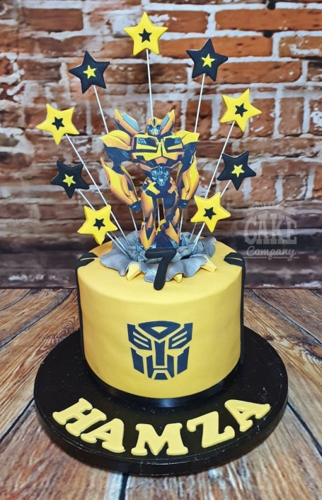 Transformers Bumble Bee theme cake - Tamworth