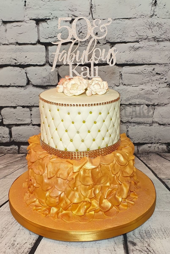 rose gold cake topper personalised