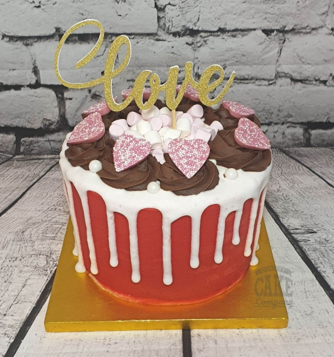 Love red drip cake for Valentines Day - Tamworth