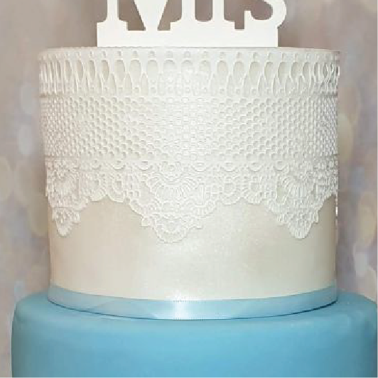 White cake lace wedding cake texture