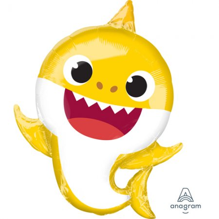 baby shark supershape yellow balloon