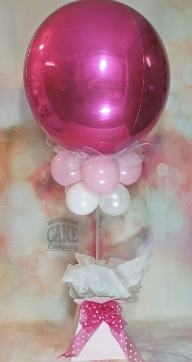 Orb balloon table centrepiece bouquet box