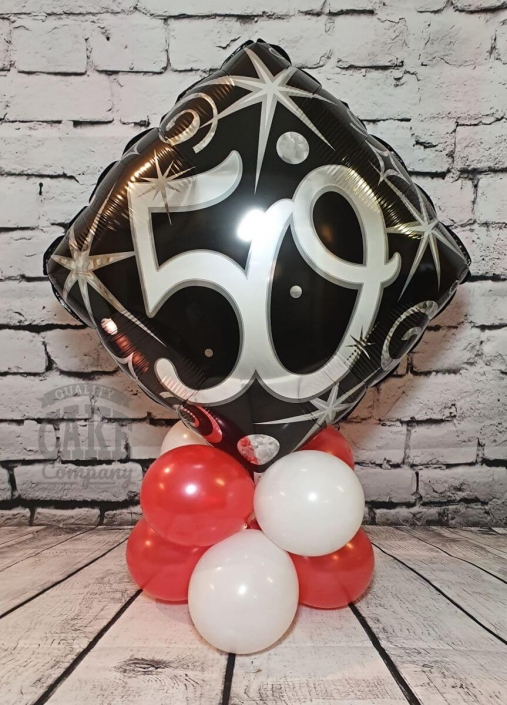 50th birthday balloon table display