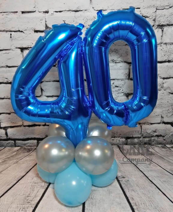 40th birthday number balloon table display - Tamworth
