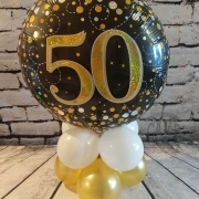 Balloon table display - 50th birthday - Tamworth