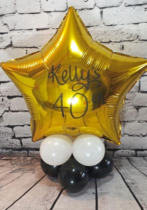 Personalised air-filled balloon table display - Tamworth