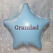 Vinyl personalised 'grandad' balloon