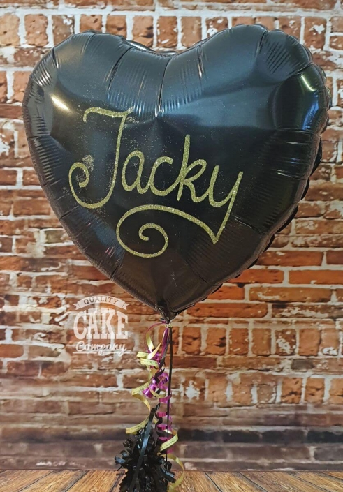 Personalised glitter foil balloon