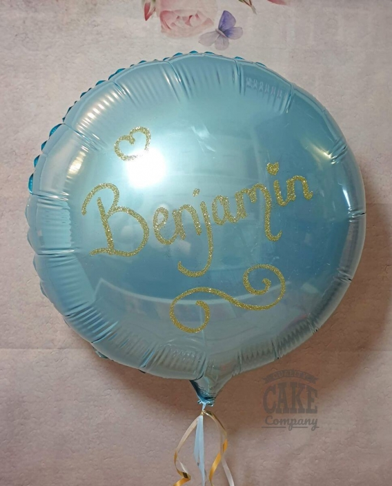 Personalised glitter foil balloon - Tamworth