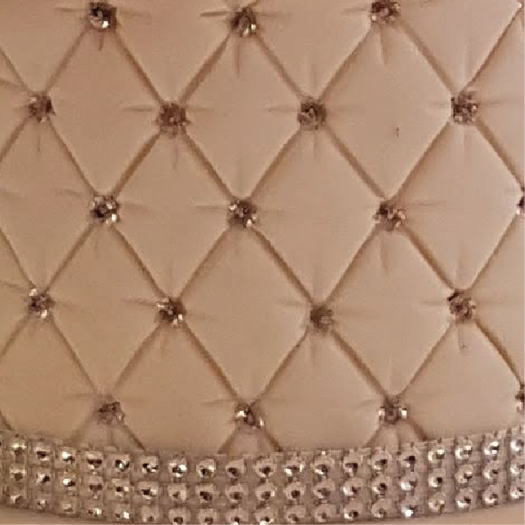 quilted cake texture bling cake