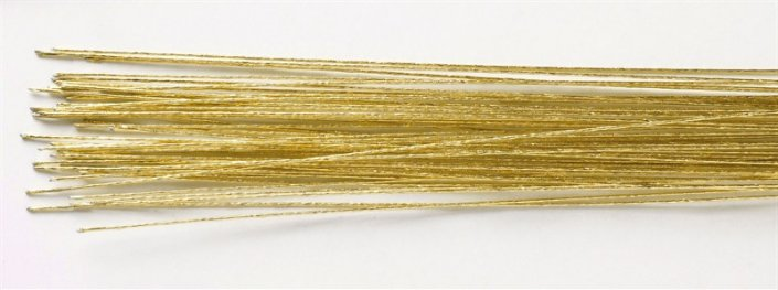 Gold florist wire for cake decorating