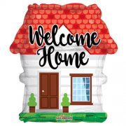 Welcome home house shaped balloon