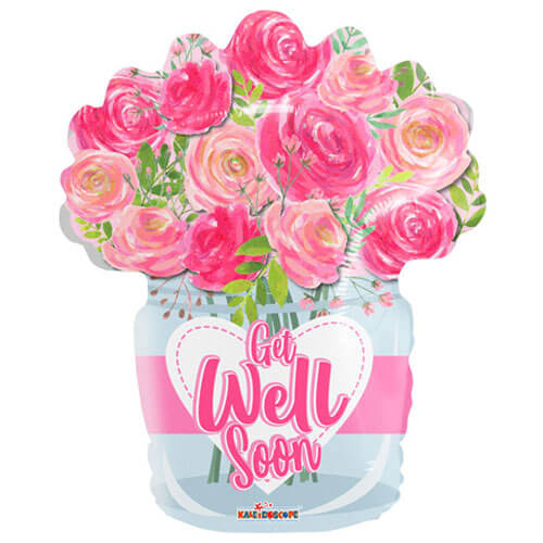 Get well soon balloon flowers