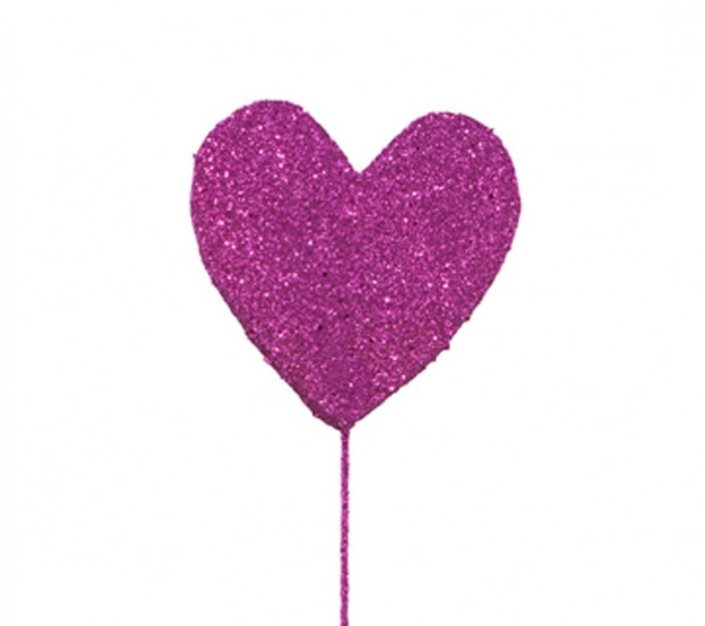 pink heart cake decoration topper