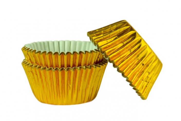gold cupcake muffin cases tamworth