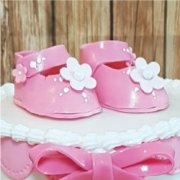 Fondant sugar baby shoes cake decorations