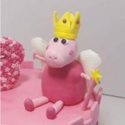 Fondant sugar branded figure Princess Peppa Pig custom cake topper