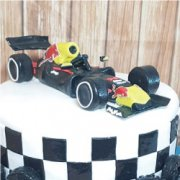Fondant sugar vehicle F1 car custom cake topper